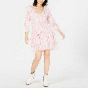 Free People Rebecca Floral Dress in Bubblegum S NW